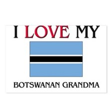 I Love My Botswanan Grandma Postcards (Package of