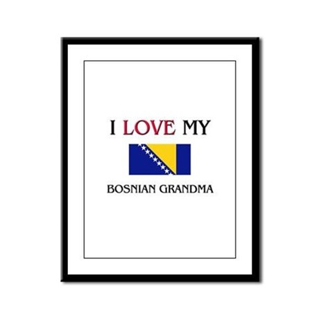 I Love My Bosnian Grandma Framed Panel Print