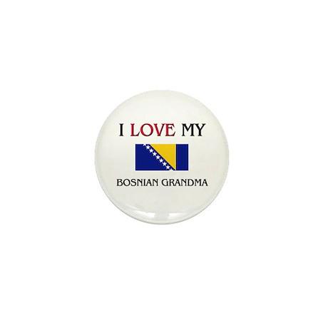 I Love My Bosnian Grandma Mini Button (10 pack)