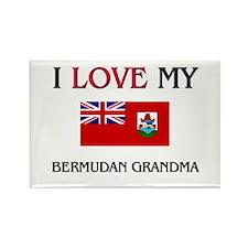 I Love My Bermudan Grandma Rectangle Magnet