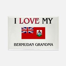 I Love My Bermudan Grandma Rectangle Magnet