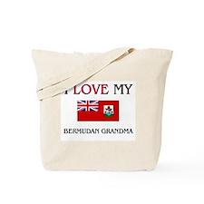 I Love My Bermudan Grandma Tote Bag