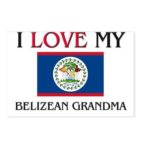 I Love My Belizean Grandma Postcards (Package of 8