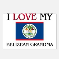 I Love My Belizean Grandma Postcards (Package of 8