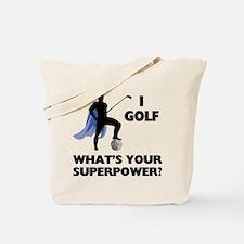 Golf Superhero Tote Bag