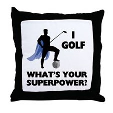Golf Superhero Throw Pillow