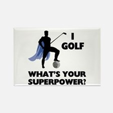 Golf Superhero Rectangle Magnet