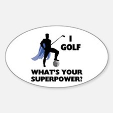 Golf Superhero Oval Decal