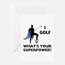 Golf Superhero Greeting Card