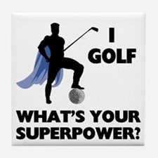 Golf Superhero Tile Coaster