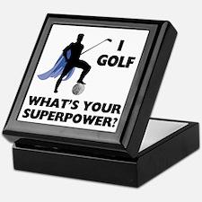 Golf Superhero Keepsake Box