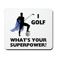 Golf Superhero Mousepad