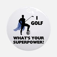 Golf Superhero Ornament (Round)