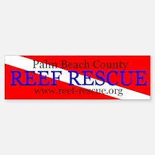 Palm Beach County Reef Rescue Bumper Bumper Bumper Sticker