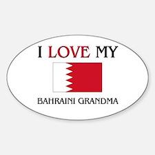 I Love My Bahraini Grandma Oval Decal