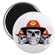 """Fireman Skulls 2.25"""" Magnet (10 pack)"""