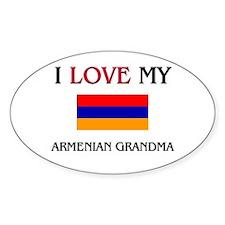 I Love My Armenian Grandma Oval Decal