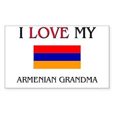 I Love My Armenian Grandma Rectangle Decal
