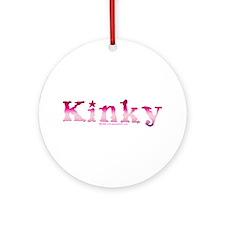 Kinky Purple Ornament (Round)