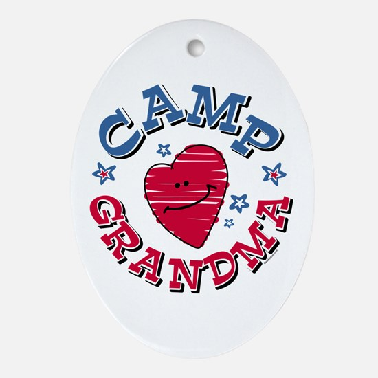 Camp Grandma Oval Ornament