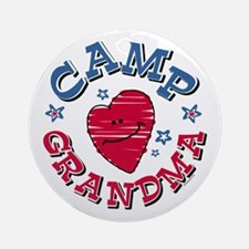 Camp Grandma Ornament (Round)