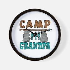 Camp Grandpa Wall Clock