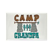Camp Grandpa Rectangle Magnet
