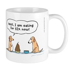 Pregnant Dog Cartoon Mug