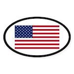 American Flag Oval Sticker (10 pk)