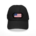 American Flag Black Cap