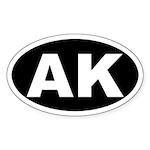 AK (Alaska) Oval Sticker