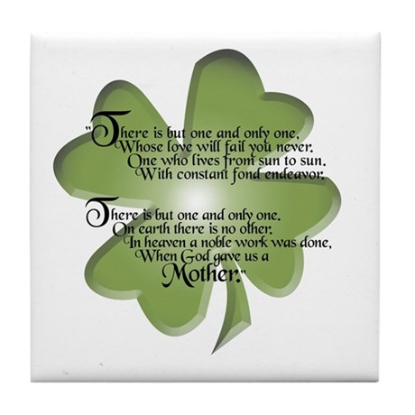 Irish Blessing - Mothers - Tile Coaster