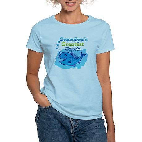Grandpa's Greatest Catch Women's Light T-Shirt