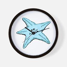 Happy Starfish Wall Clock
