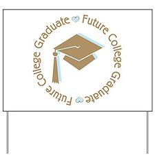 Cute Blue Future College Graduate Yard Sign