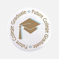 """Cute Blue Future College Graduate 3.5"""" Button"""
