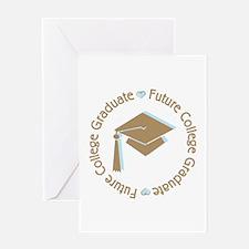 Cute Blue Future College Graduate Greeting Card