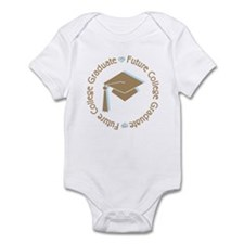 Cute Blue Future College Graduate Infant Bodysuit