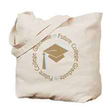 Cute Blue Future College Graduate Tote Bag