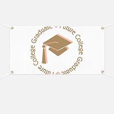 Cute Pink Future College Graduate Banner