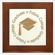 Cute Pink Future College Graduate Framed Tile