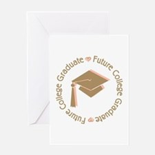 Cute Pink Future College Graduate Greeting Card