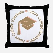 Cute Pink Future College Graduate Throw Pillow