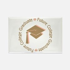 Cute Pink Future College Graduate Rectangle Magnet