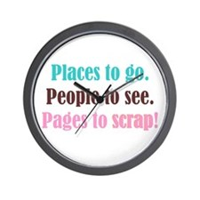 Pages to Scrap! Wall Clock