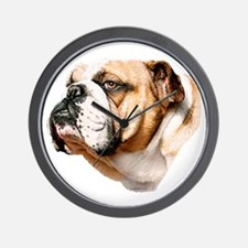Bulldog Bust Wall Clock