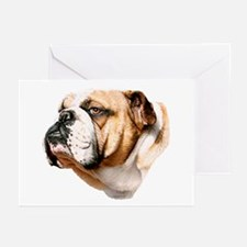 Bulldog Bust Greeting Cards (Pk of 20)