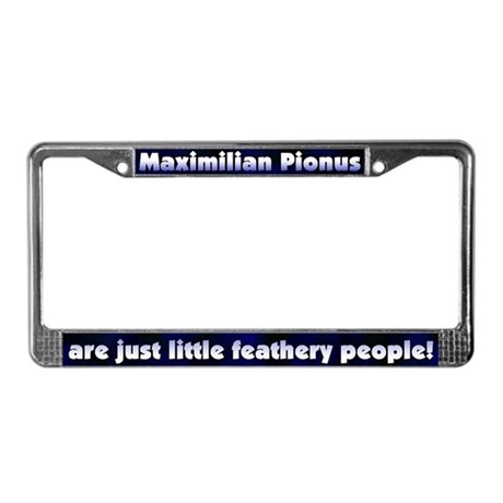 Feathery People Maximilian Pi License Plate Frame