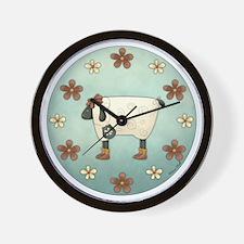 Primsical Sheep Wall Clock