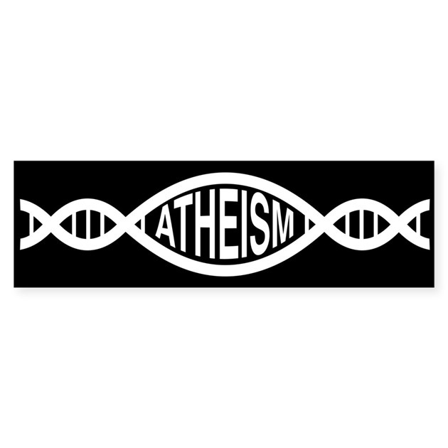 atheism dna bumper bumper sticker by meechity With kitchen colors with white cabinets with atheist bumper sticker